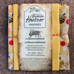 Bienenwachstuch und Bienenwachsbeutel von der Imkerei Knotzer aus Donnerskirchen